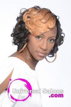 Layered Curly Pincurl Bob Hairstyle from Deedra McLeod