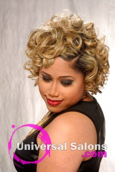 """'Blond Ambition"""" Short, Curly Hairstyle for Black Women"""