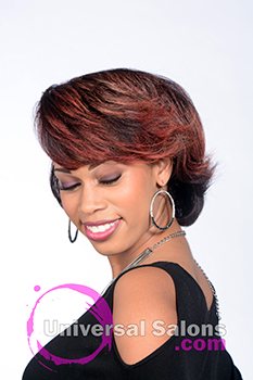 Beautiful Flaming Layers Short Hairstyle by Tanisha Holland
