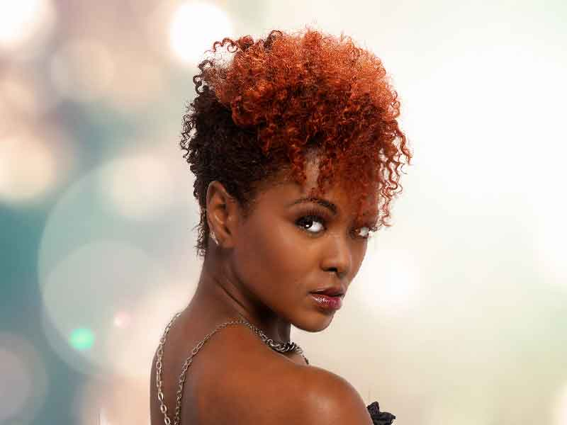 Mohawk Hairstyle with Rustic Red Hair Color