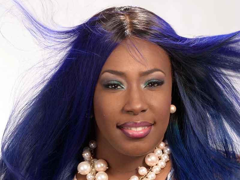 Long Royal Blue Hair Weave for Black Women from Celestine Lee Rutherford