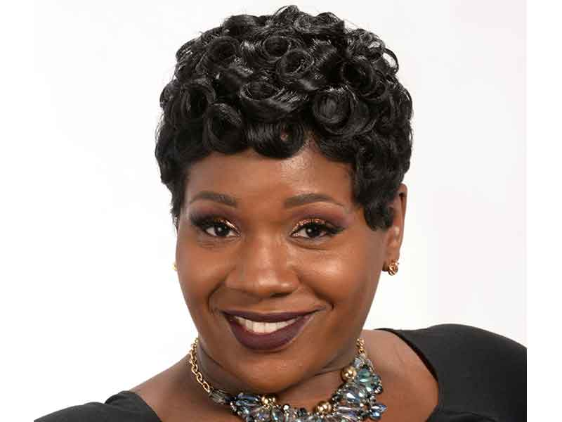 Short Hairstyle with Pin Curls for Black Women