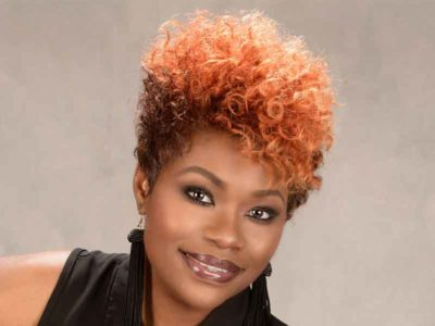 Short Hairstyle with Hair Color and Curls from Tasha Hull