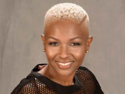 short hairstyle with blonde hair color from Montrose Whitaker