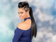 Long Ponytail with Gaator Braids for black women