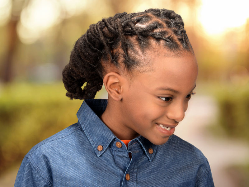 Healthy Locs Hairstyle with Cornrows and Twists
