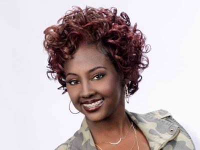 Medium Length Curly Hairstyle from Patricia Clinkscales