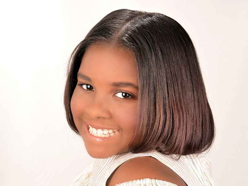 Natural Hairstyle with Silk Press