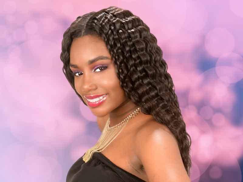 Long Black Hairstyle Closure