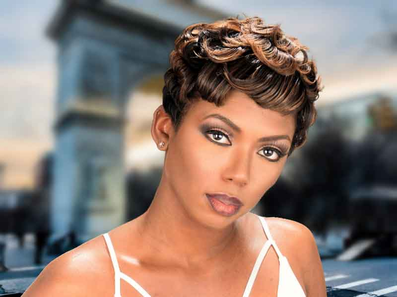 Short Pixie Haircut for Black Women