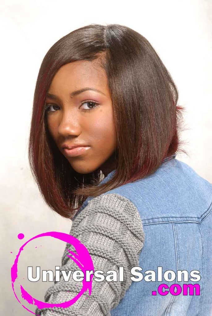 Left View: Bob Hairstyle with Hair Color