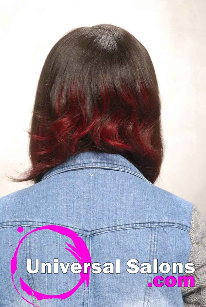Back View: Bob Hairstyle with Hair Color
