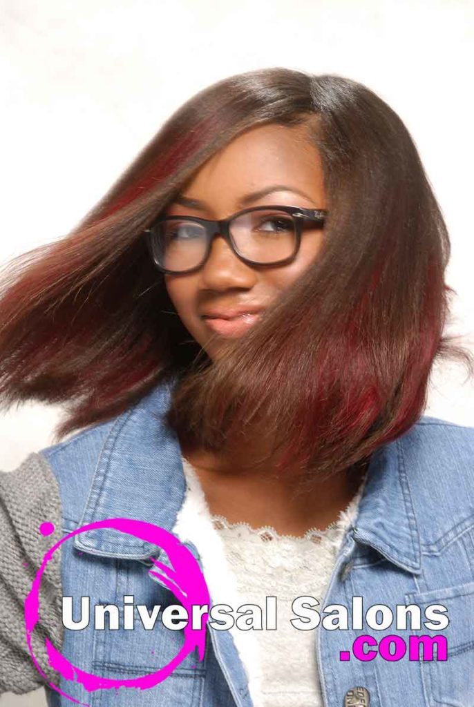 Hair Movement: Bob Hairstyle with Hair Color
