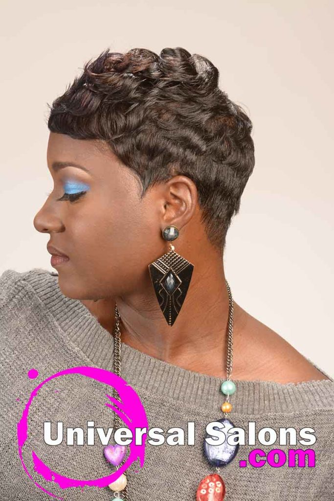 2nd Left Side: Short Curly Hairstyle for Black Women
