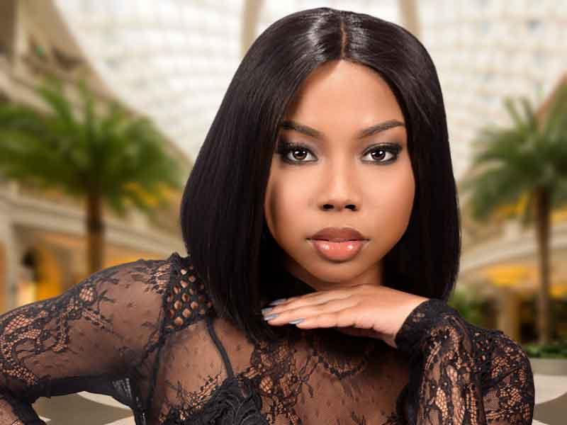 Blunt Cut Bob Hairstyle for Black Women