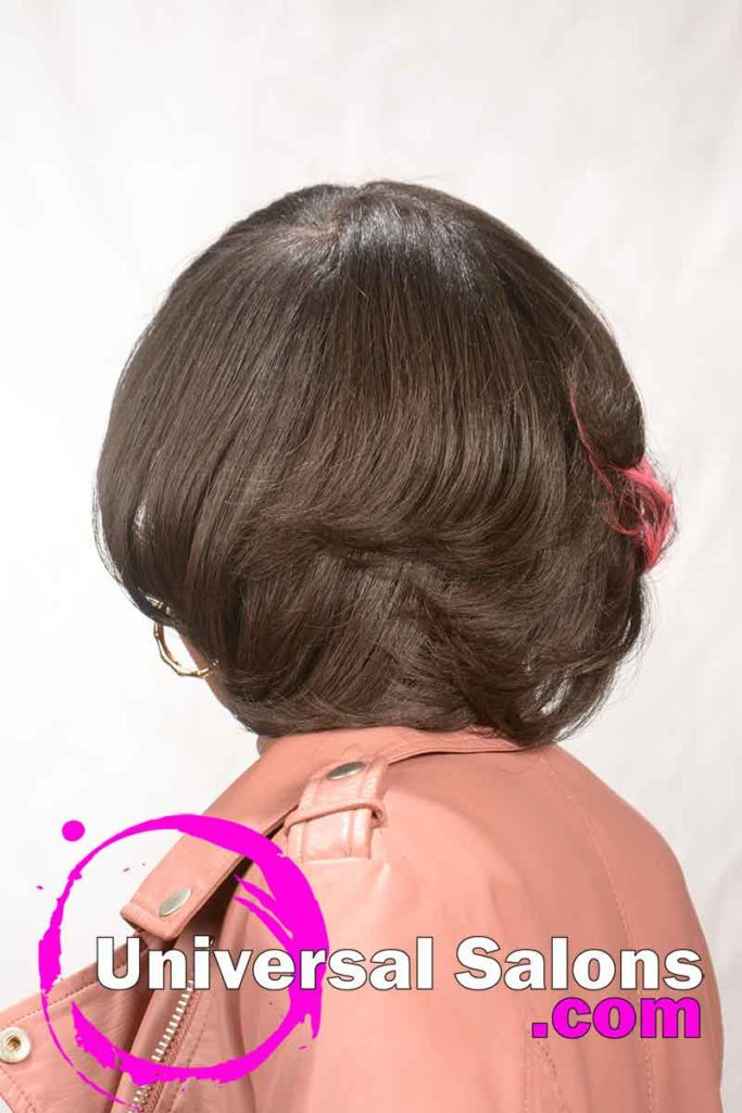 Back View: Kids Hairstyle with Vibrant Hair Color