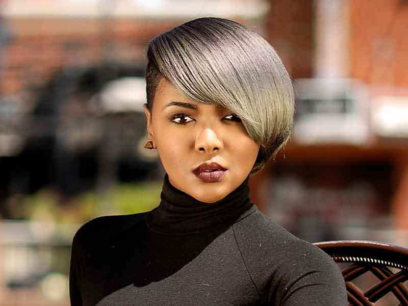 Smokescreen Bob Hairstyle for Black Women