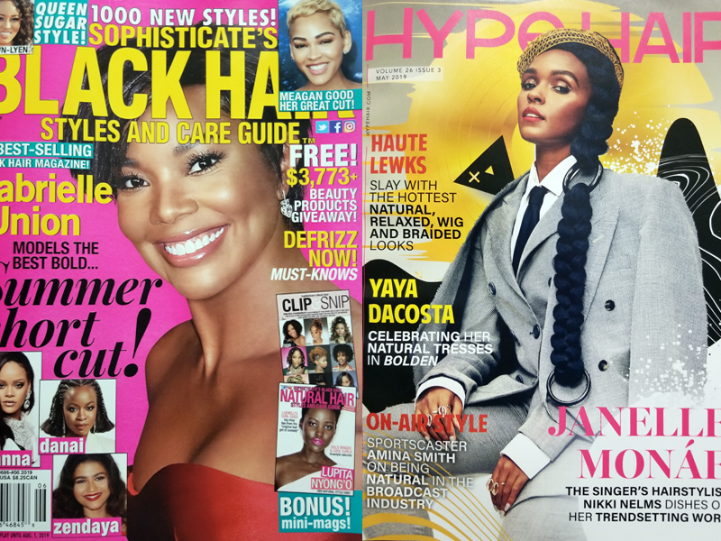 May 2019 Hype Hair and June 2019 Sophisticate's Black Hair Styles and Care Guide
