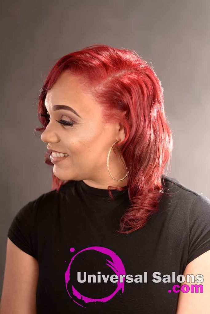 Right View: Natural Looking Red Hair Color Technique
