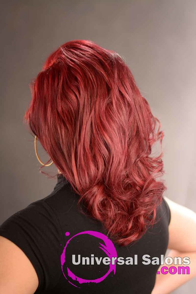 Back View: Natural Looking Red Hair Color Technique