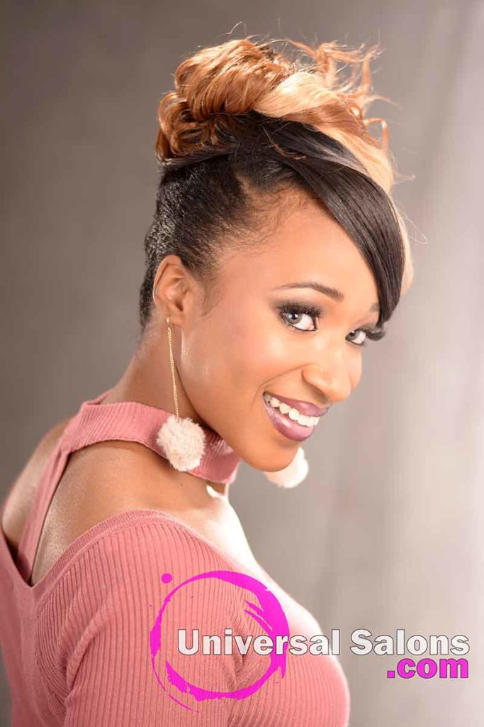 2nd Right View: Elegant Updo Hairstyle with a Double Braid