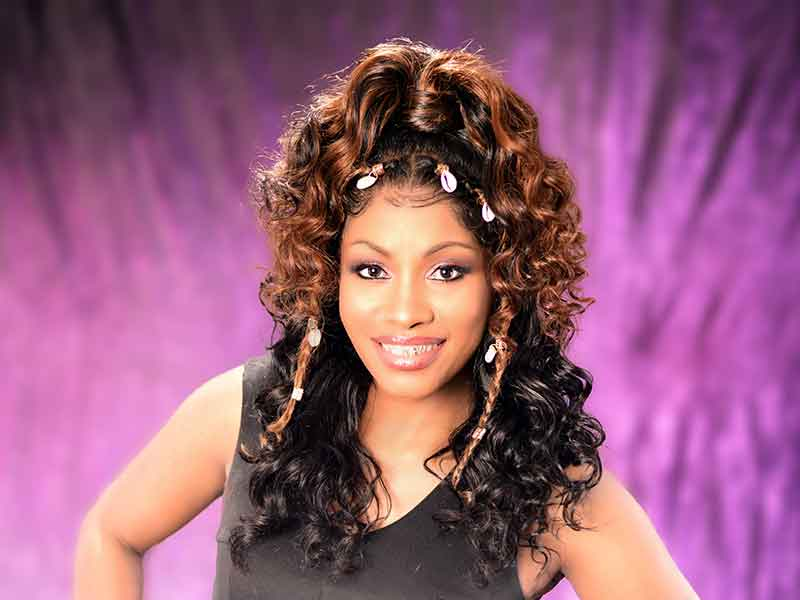 Curly Lace Wig Ponytail for Black Women