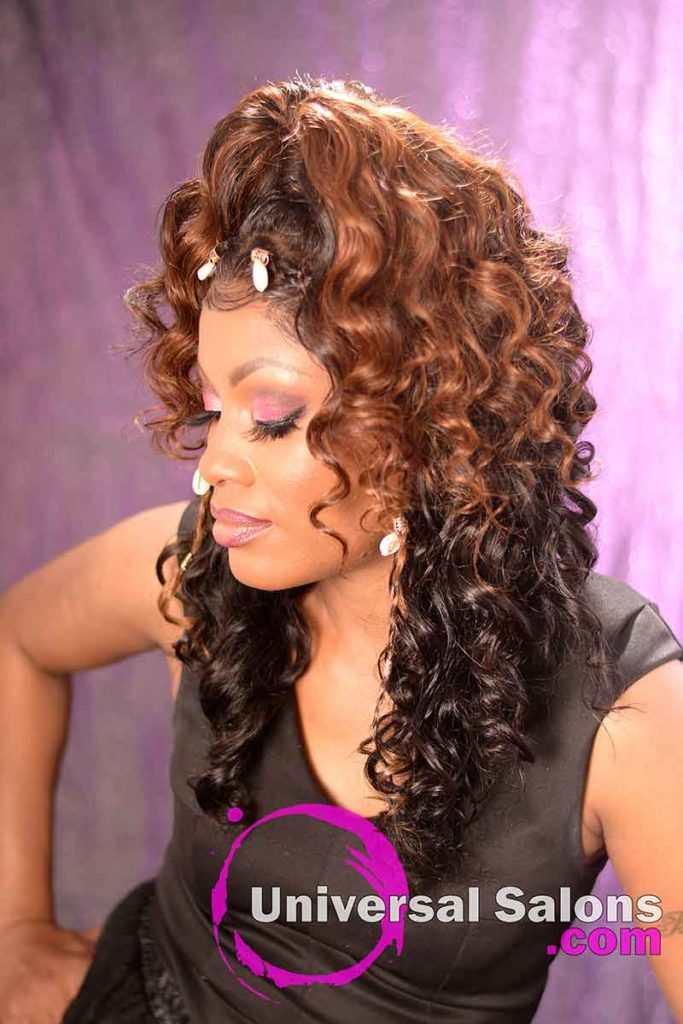 2nd Left View: Curly Lace Wig Ponytail for Black Women
