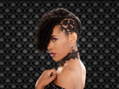 Curly Updo Hairstyle for Natural Hair
