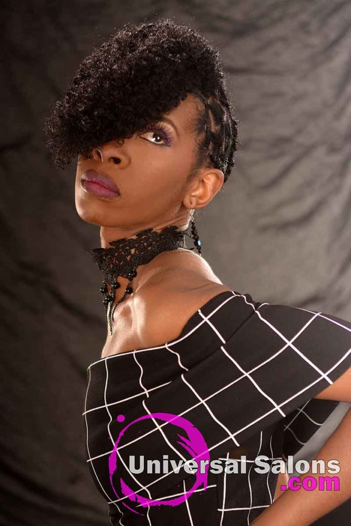 Front Look Up: Curly Updo Hairstyle for Natural Hair