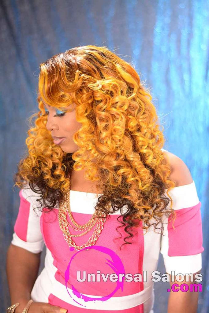 Right View: Long Hair Lace Closure Wig