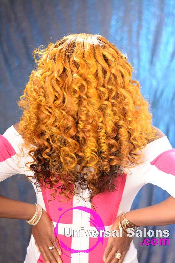 Back View: Long Hair Lace Closure Wig