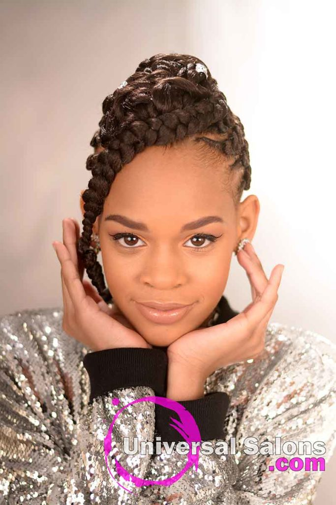 Front View: Alluring Kids Braid Hairstyle from Marquita Briggs from Columbia, SC