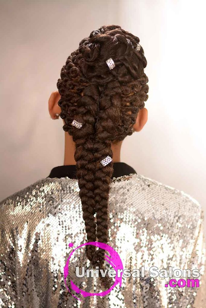Back View: Alluring Kids Braid Hairstyle from Marquita Briggs from Columbia, SC