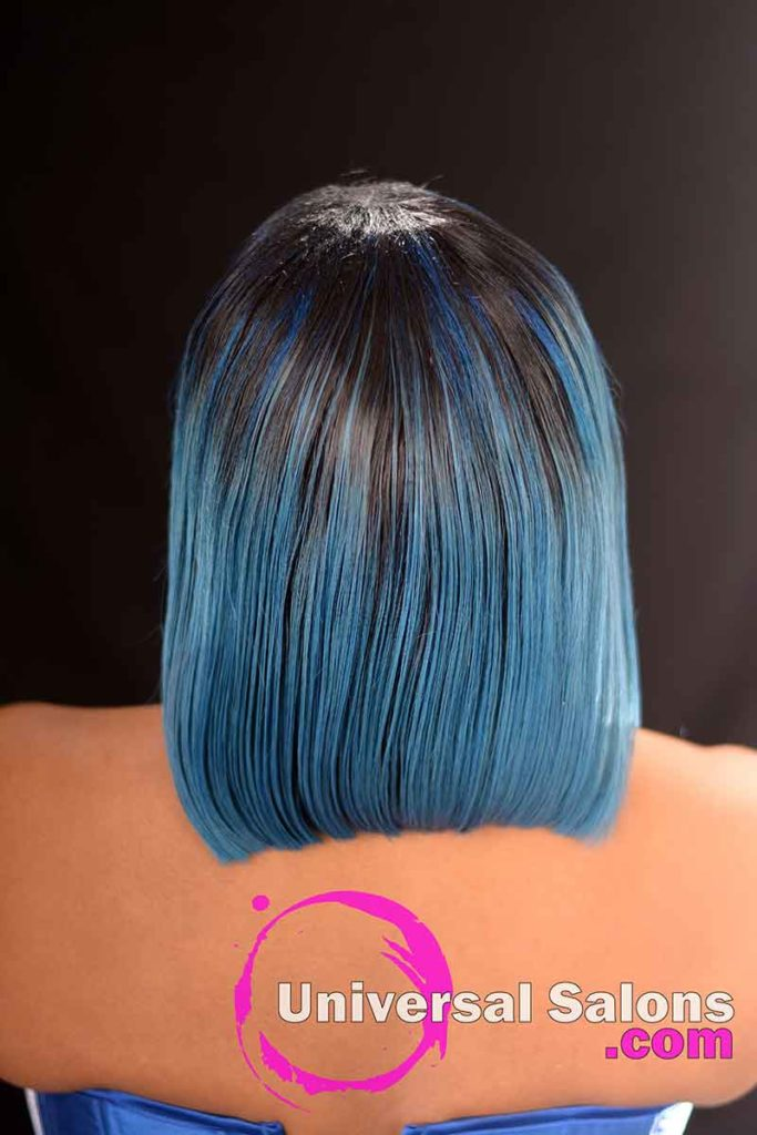 Back View: Amazing Bob Haircut with Hair Color from Deedra Mcleod from Hartsville, SC