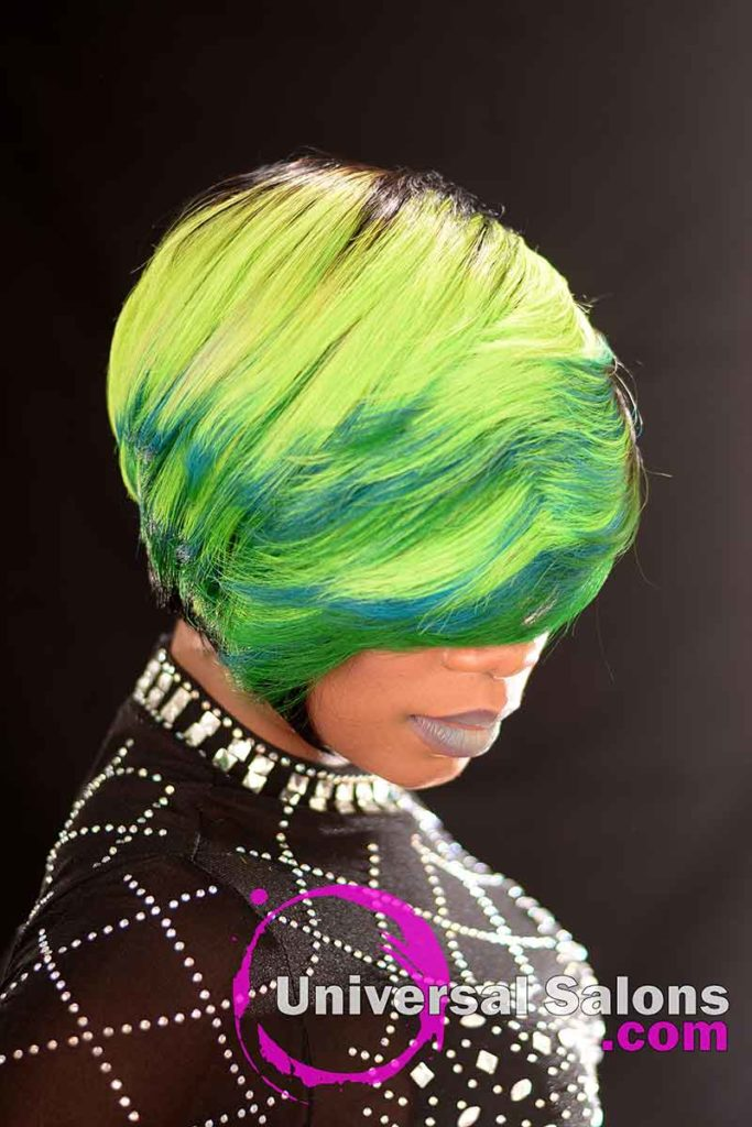 2nd Right View: Bold Lime Quick Weave Hairstyle from Constance Purnell in Columbia, SC
