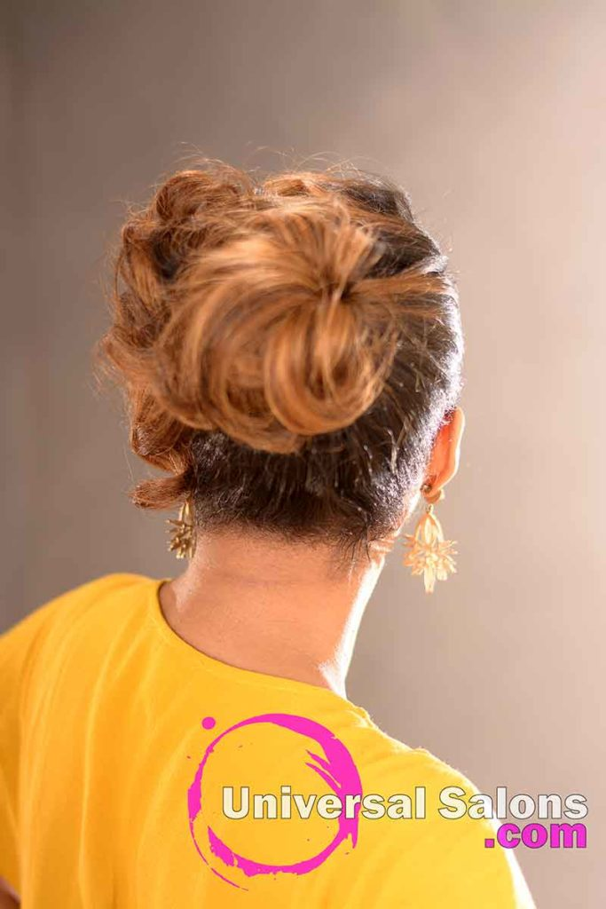 Back View: Chic Pin Curl Updo from Kevin Quattlebaum in Columbia, SC