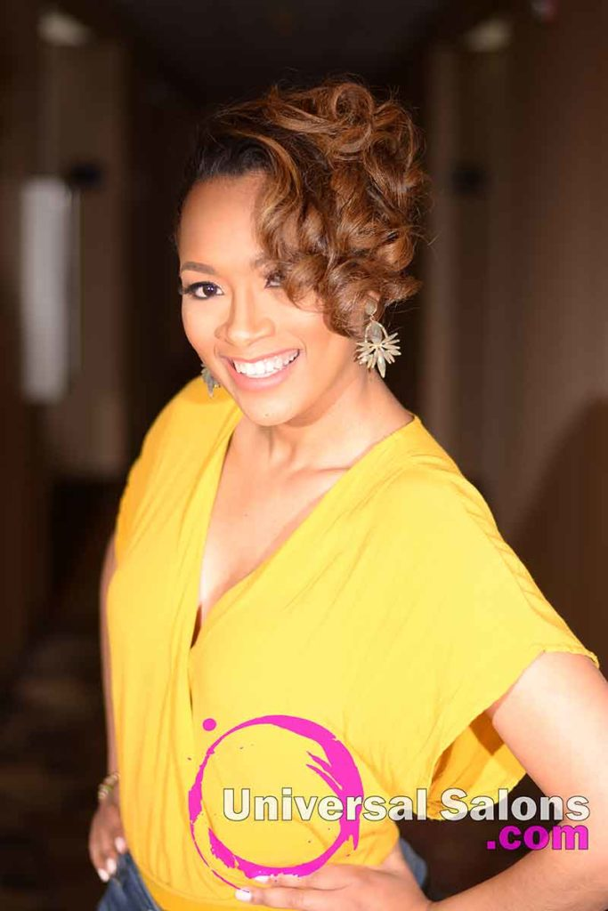 Location Left: Chic Pin Curl Updo from Kevin Quattlebaum in Columbia, SC