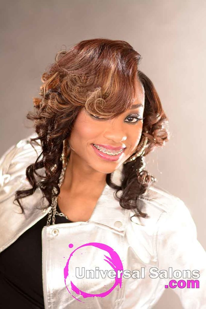 Front Right View: Stunning Quick Weave Hairstyle from Marquitta Briggs in Columbia, SC