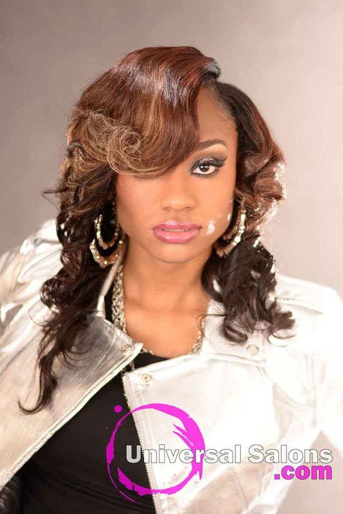 Front View: Stunning Quick Weave Hairstyle from Marquitta Briggs in Columbia, SC
