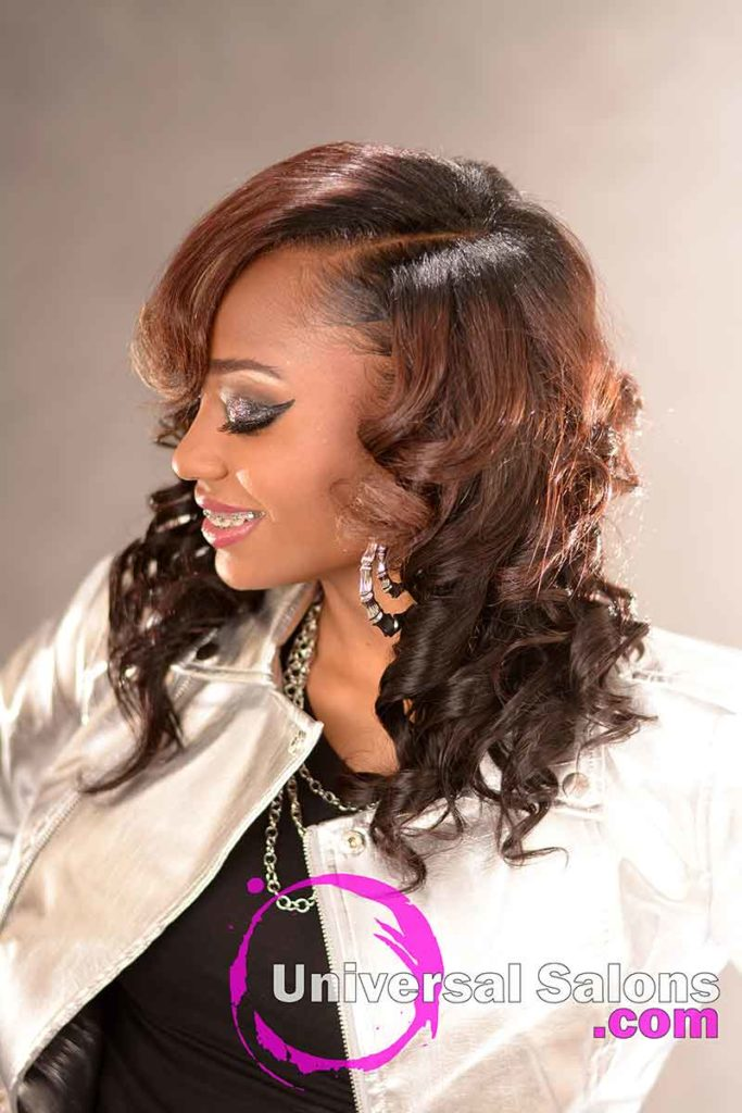 Left View: Stunning Quick Weave Hairstyle from Marquitta Briggs in Columbia, SC