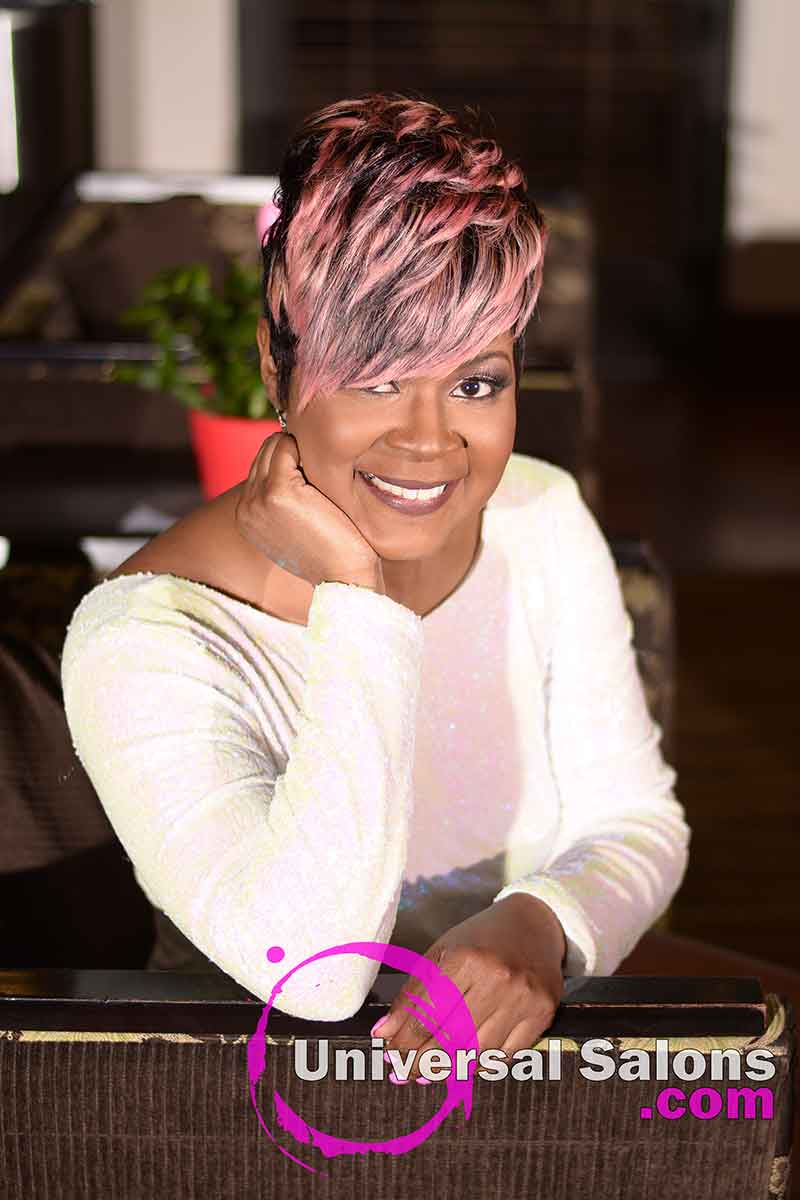 Location View: Fierce Pixie Hairstyle for Black Women from Yvette Alston in Columbia, SC