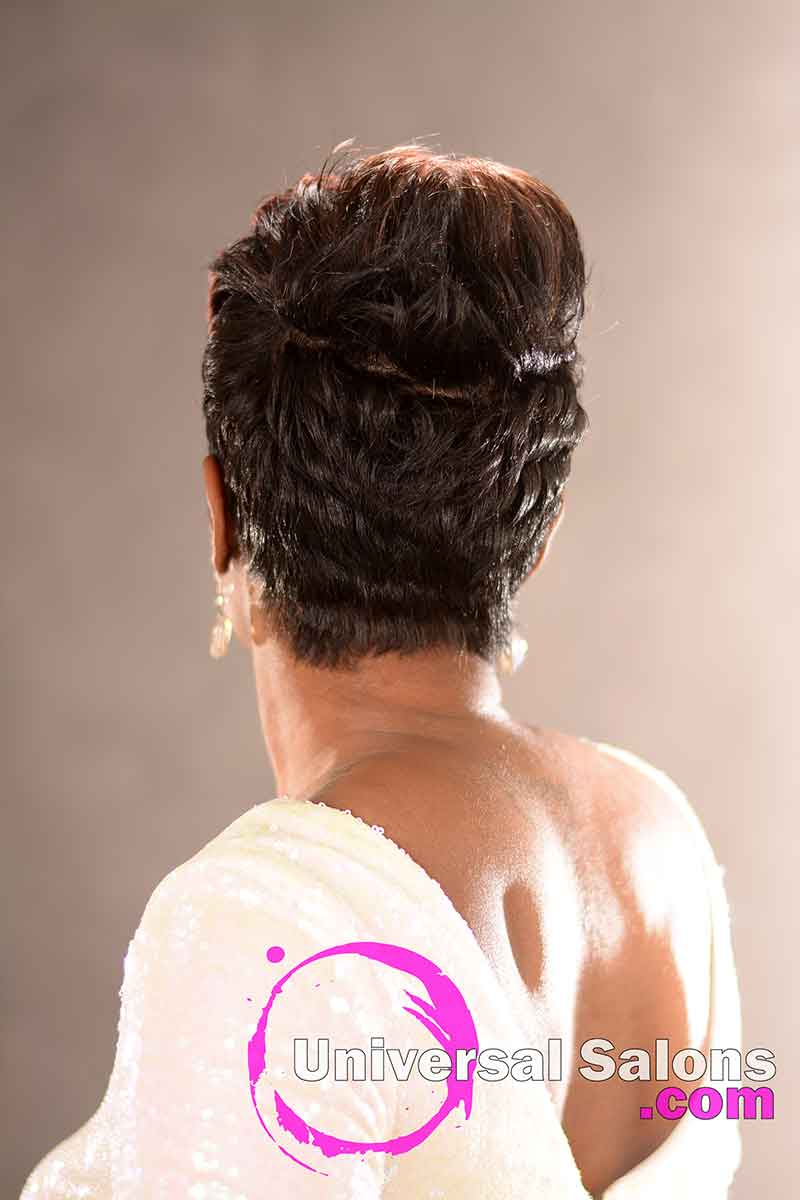 Back View: Fierce Pixie Hairstyle for Black Women from Yvette Alston in Columbia, SC