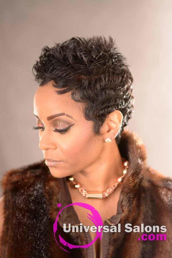 Right View: Short Precision Haircut from Shana Lucky-Scipio in Darlington, SC