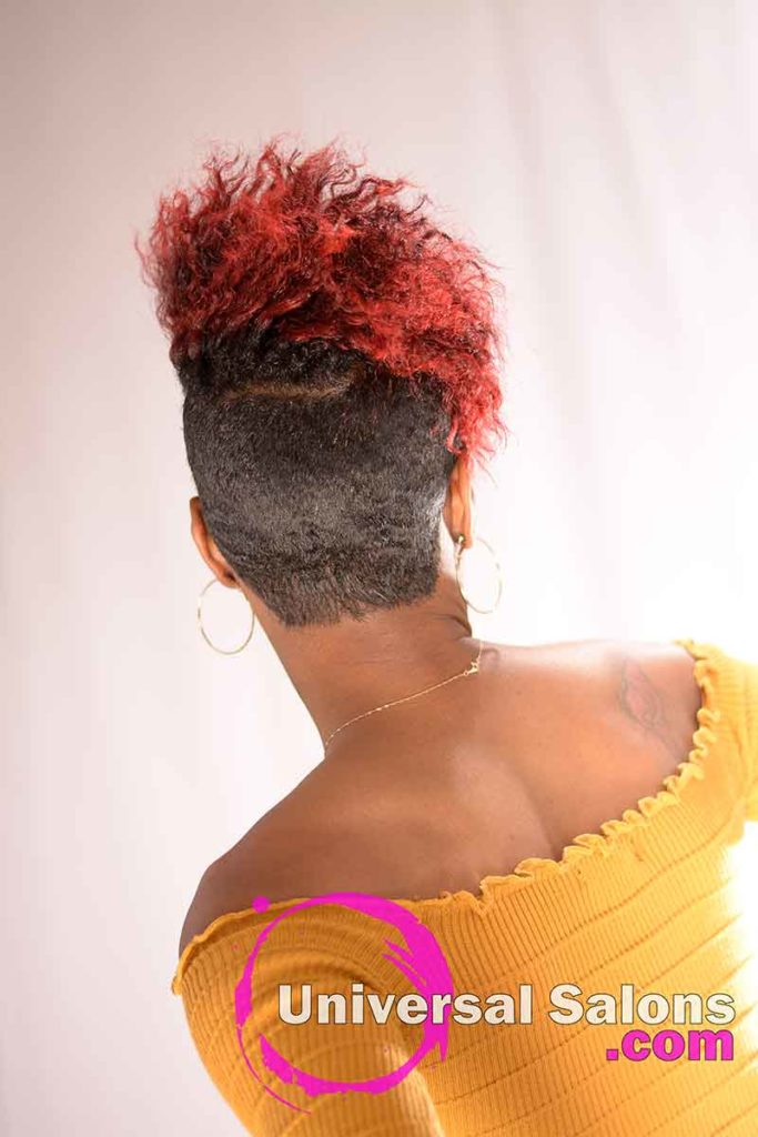 Back View: Hot Shaved Twist Out Hairstyle from Rasheeda Clark in Charleston, SC
