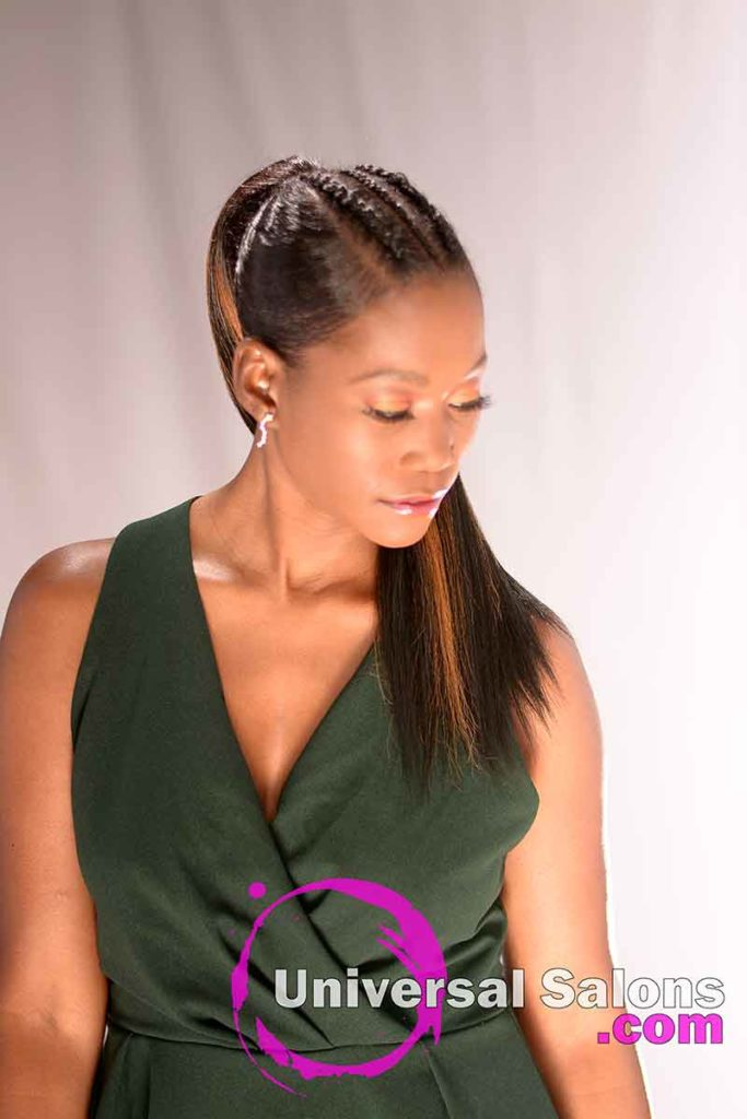 Front Down View: Long High Ponytail with Highlights from Nivi Grimball in Charleston, SC