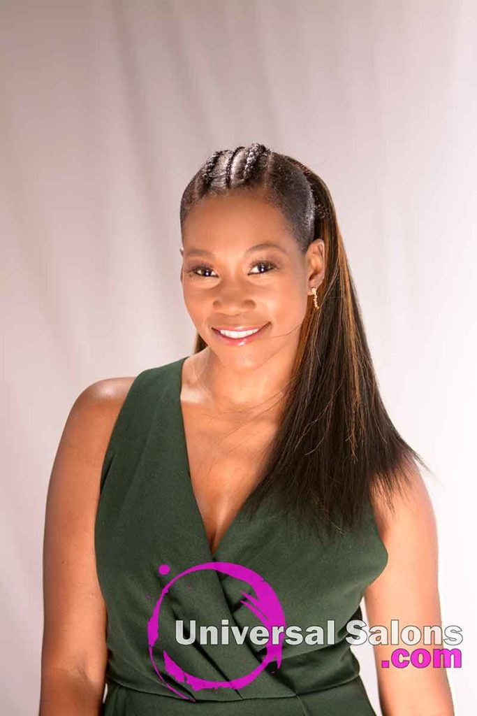 Front View: Long High Ponytail with Highlights from Nivi Grimball in Charleston, SC