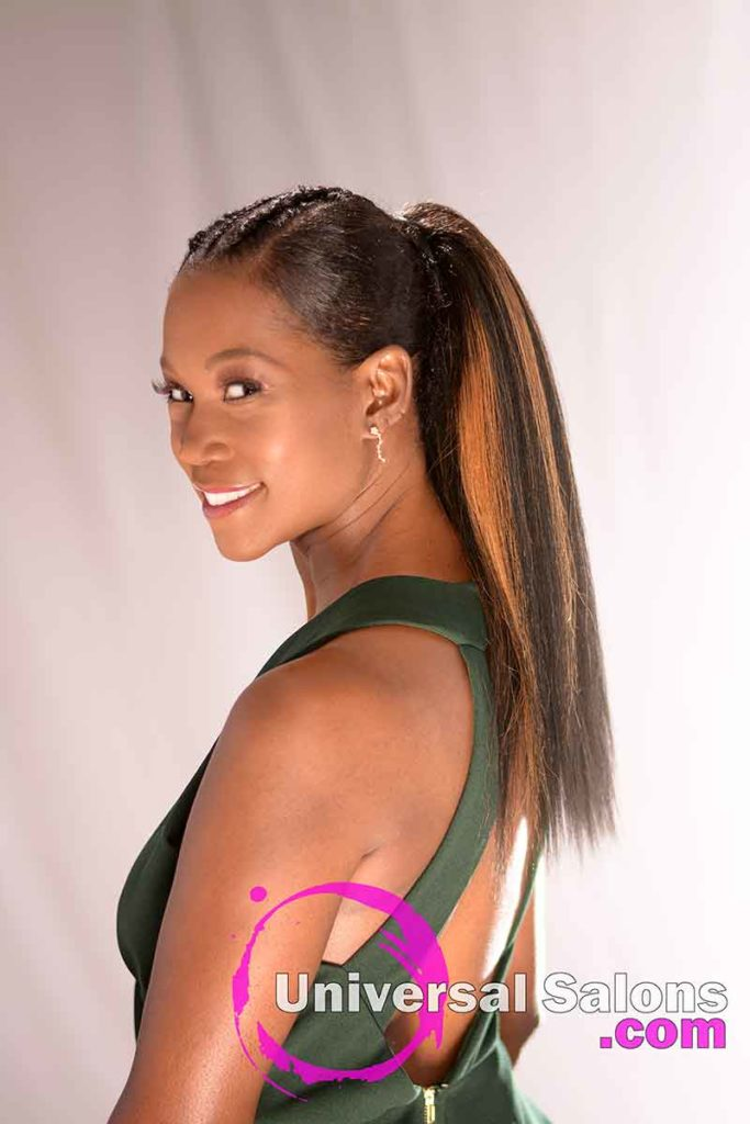 Left View: Long High Ponytail with Highlights from Nivi Grimball in Charleston, SC