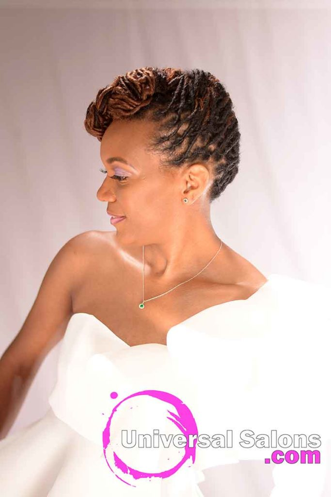 Left View: Niva Grimball Created One of Charleston, SC's Top Loc Updo Hairstyles