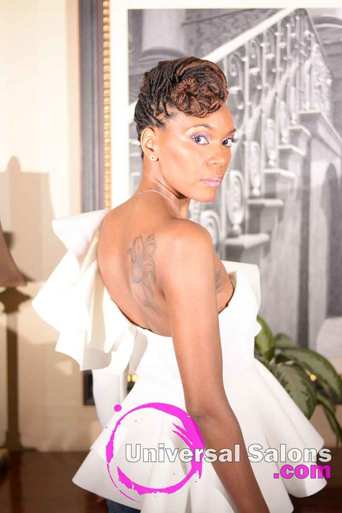 Location 3/4 View: Niva Grimball Created One of Charleston, SC's Top Loc Updo Hairstyles