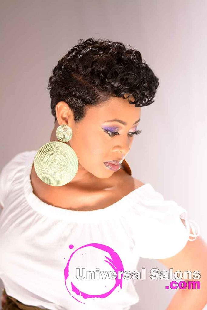 The Right Side View of a Short Hairstyle for Black Women